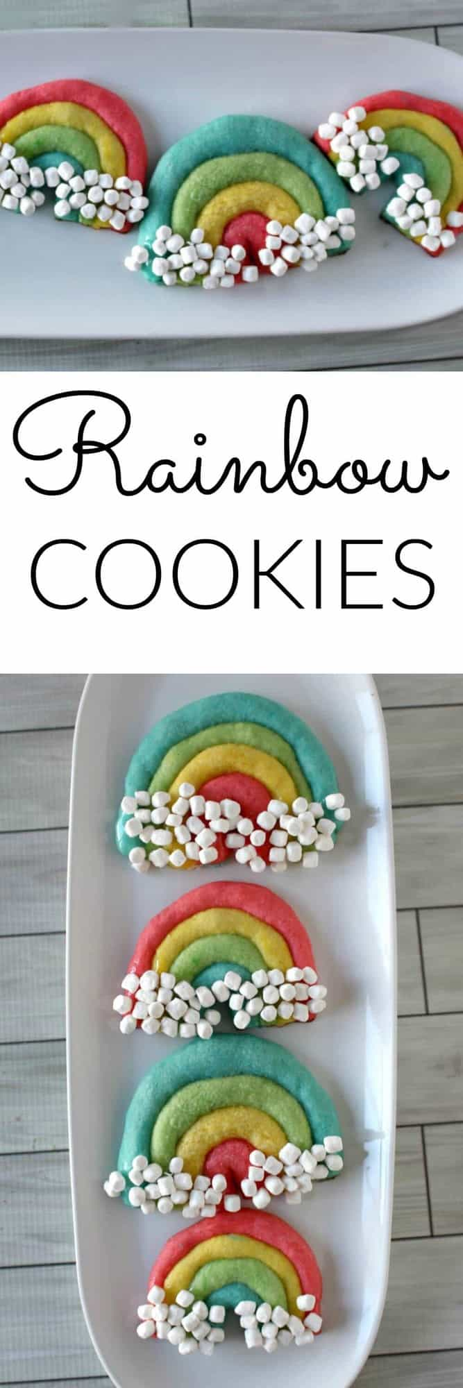 Rainbow Cookies - the perfect for Easter, St. Patricks Day or an any day treat