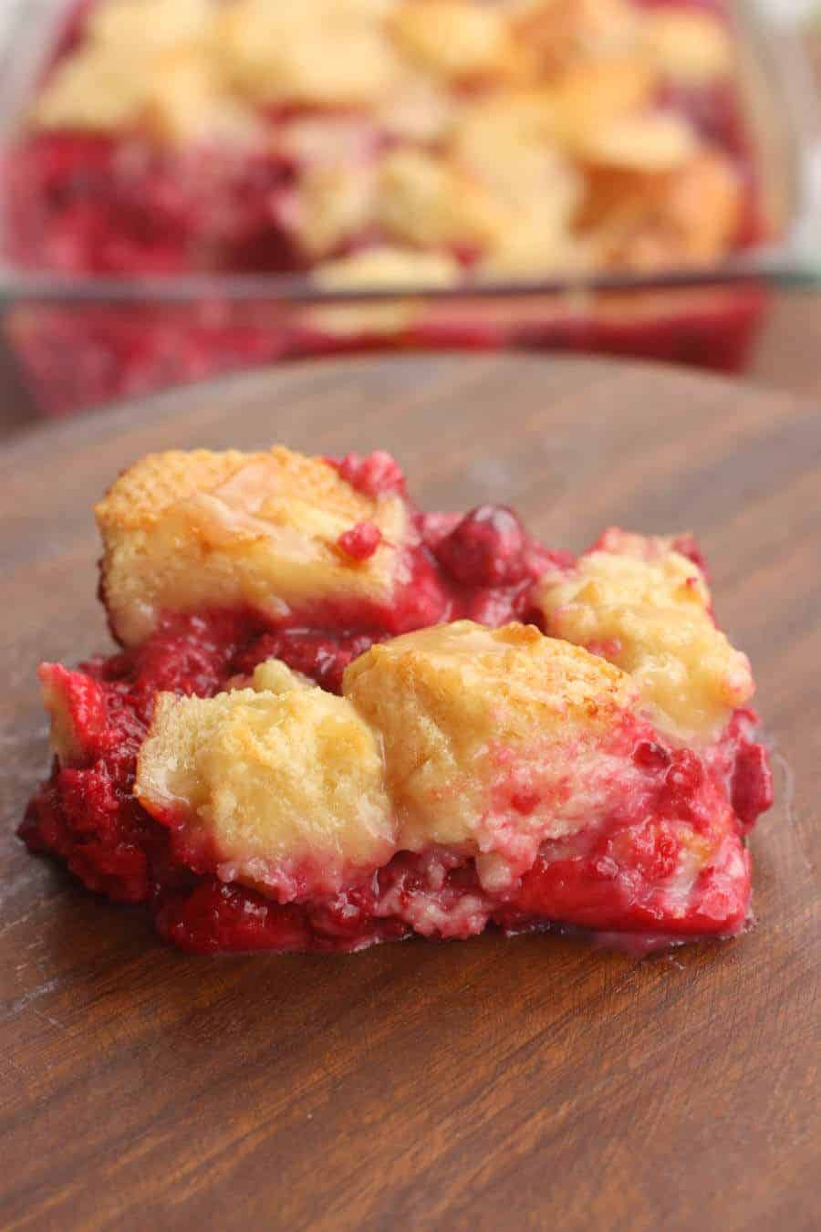 Raspberry Bread Pudding - Princess Pinky Girl