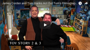 Tom Hanks and James Corden Act out All of Tom's Movies in 7 Minutes!