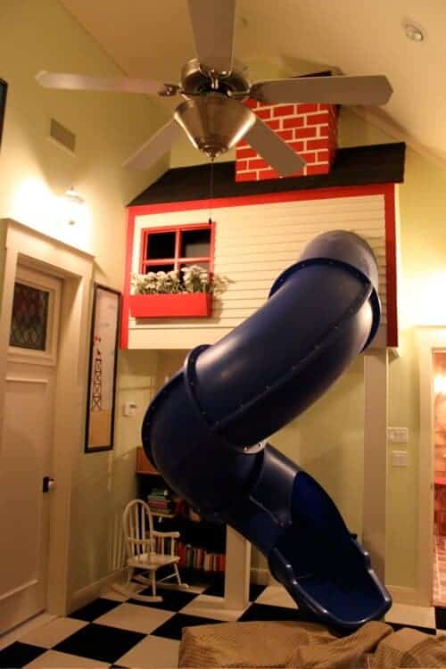 Slide Playhouse via Living Locurto
