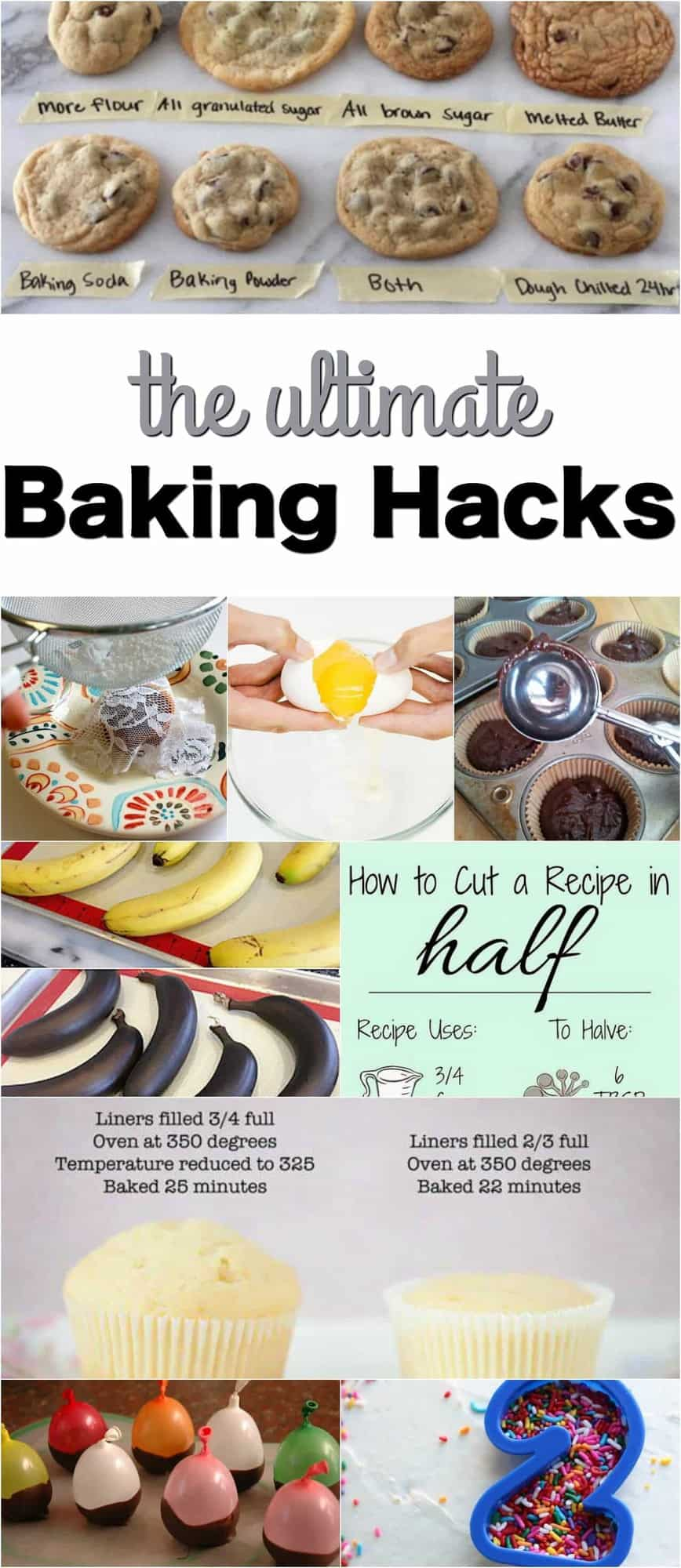 Do you love to bake, but often find yourself in a baking fail. Well, these baking hacks are the best baking tips and trips ever!!