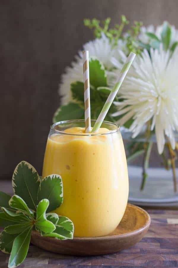 Tropical Sunshine Smoothie by Lovely Little Kitchen