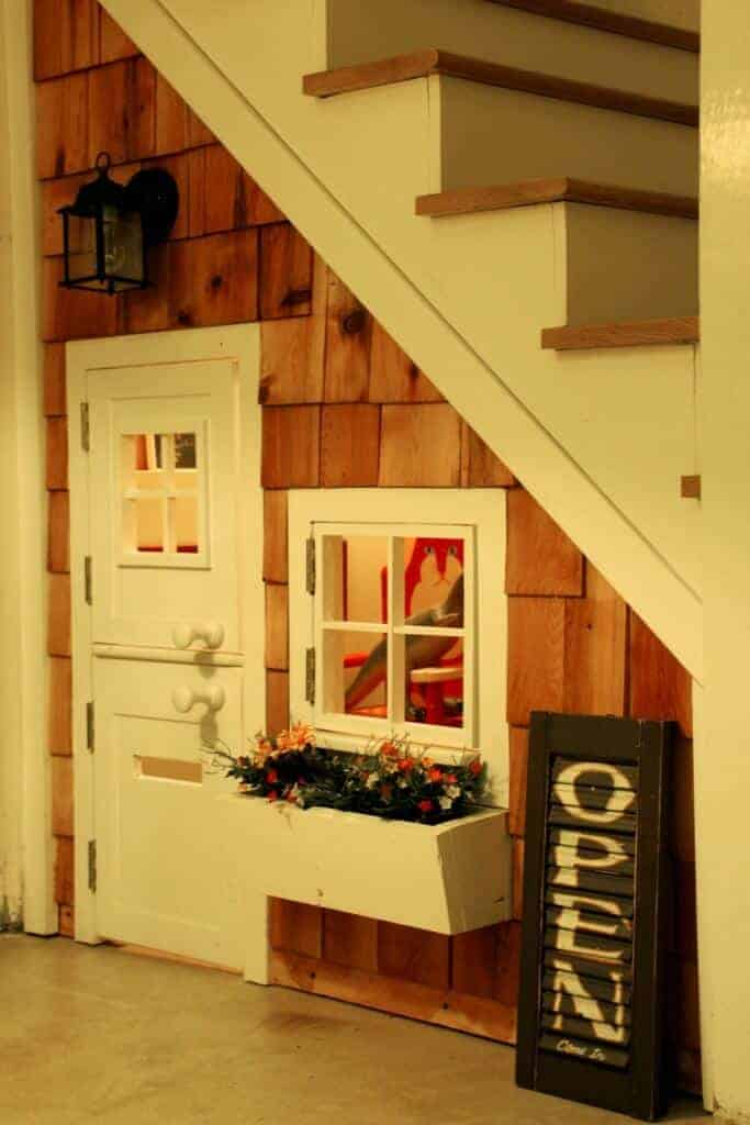 Under the Stairs Clubhouse by Mossy Mossy