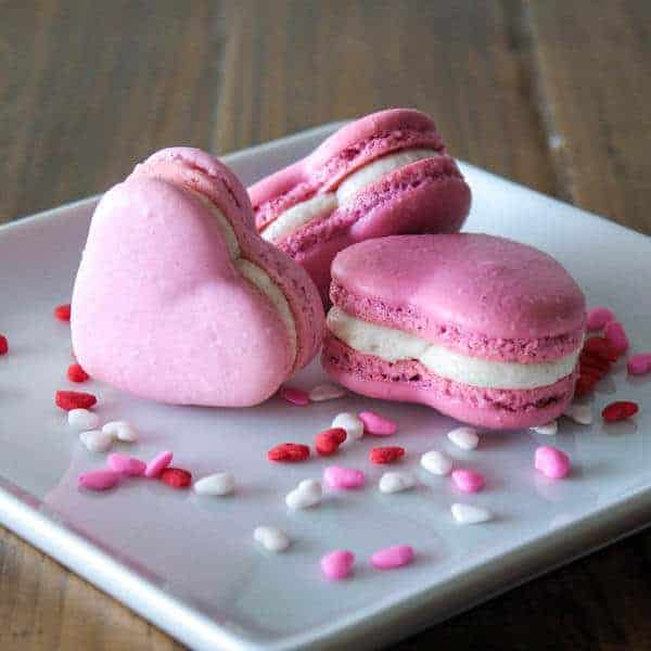 Valentine Heart Macarons from Liv for Cake