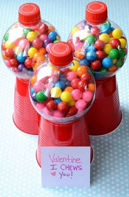 Valentine I Chews You Gumball Dispenser by Meet the Dubiens