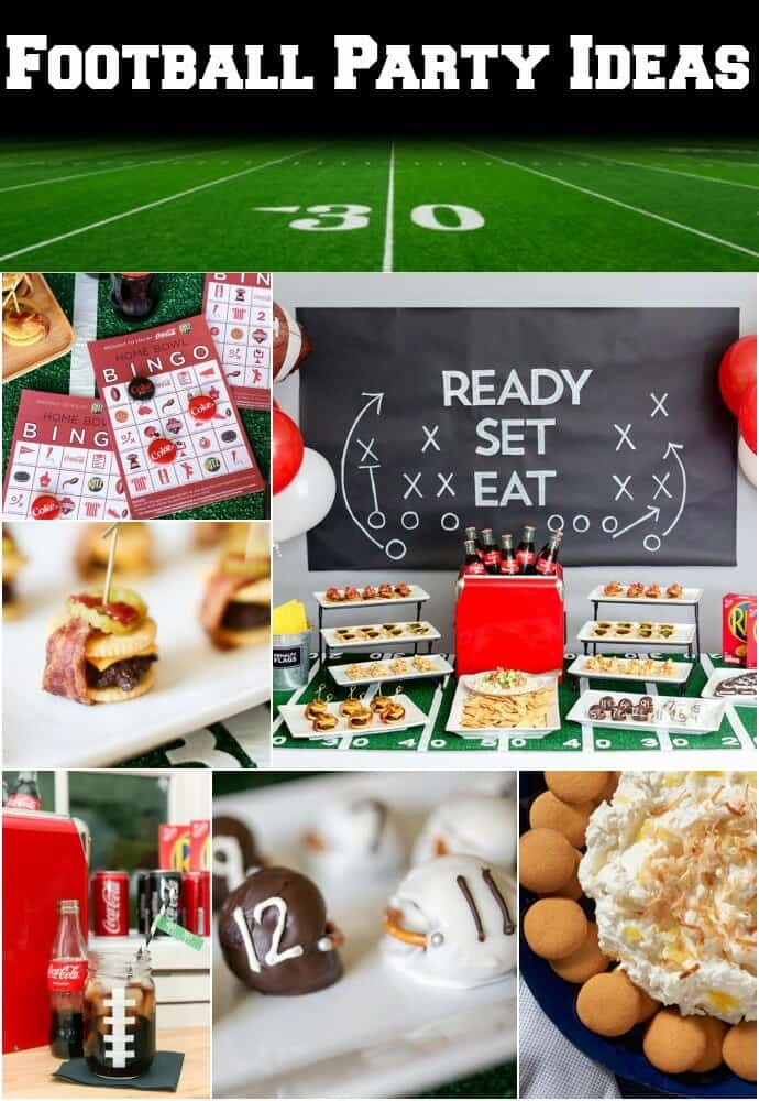 football party ideas - recipes games and easy decorations