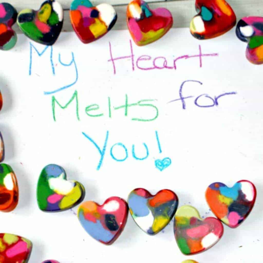 Valentine's Day Heart Crayons