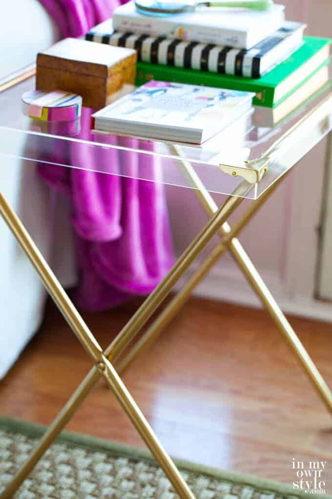 Acrylic Side Table by In My Own Style