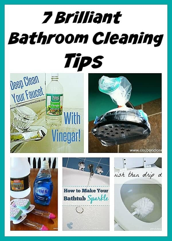 Brilliant Bathroom Cleaning Tips by A Cultivated Nest