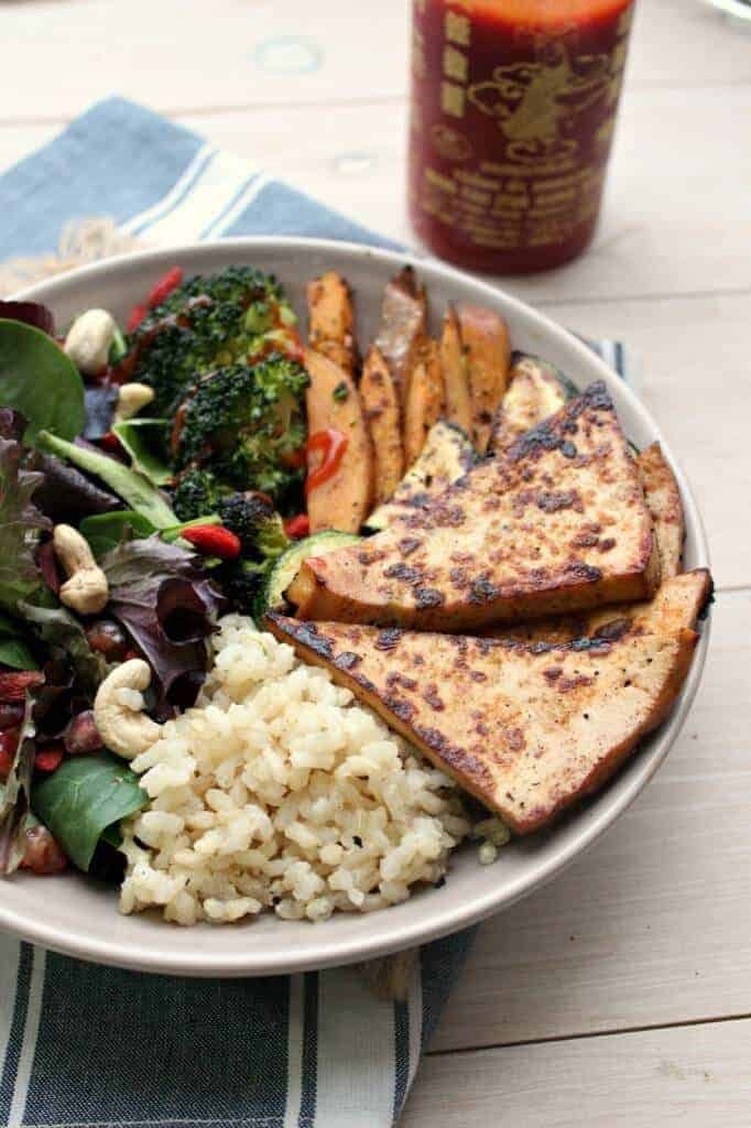 Crack Tofu Superfood and Abundance Bowl by Honey and Figs Kitchen