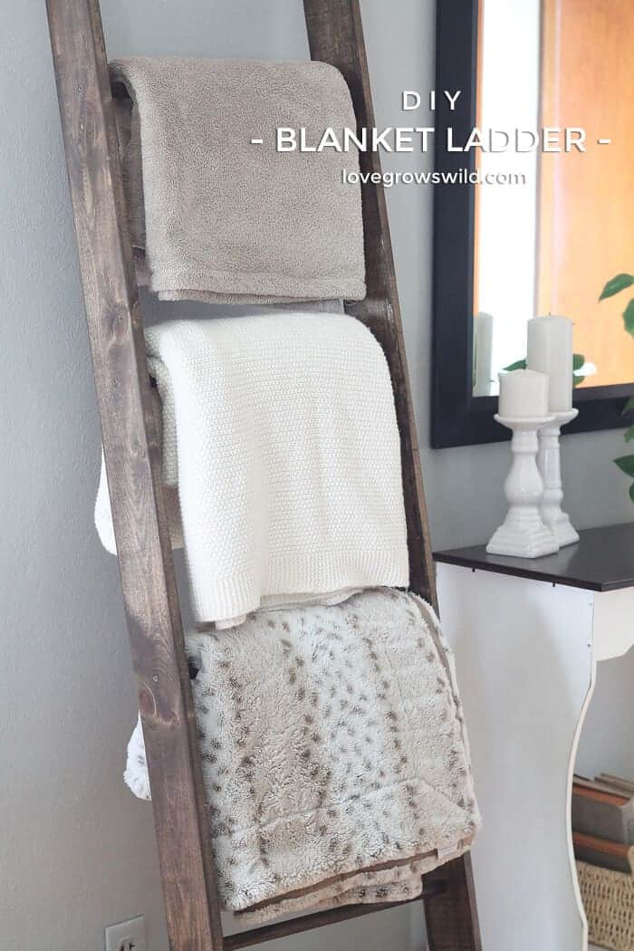 DIY Blanket Ladder by Love Grows Wild