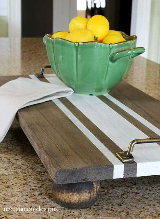 DIY Wooden Server Tray by Uncommon Designs