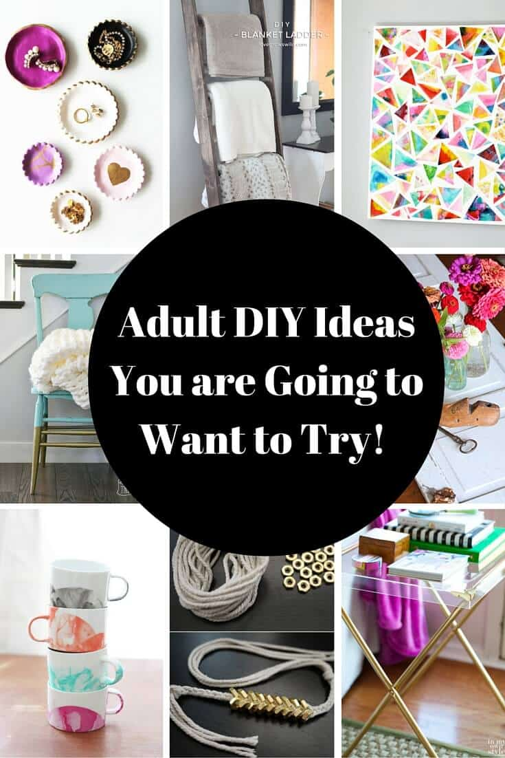 DIY and Craft Ideas for Adults