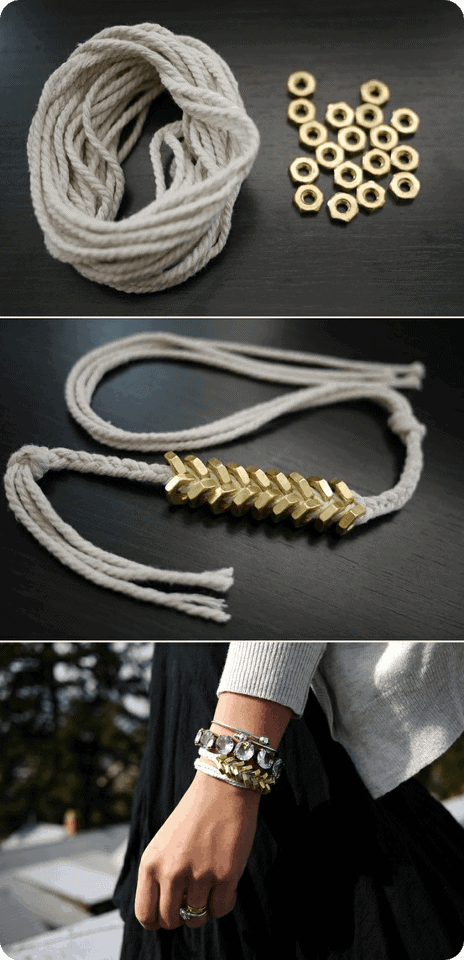 Hex Nut Bracelets by Stripe Cross