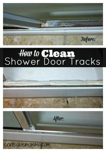 how to clean shower door coated with