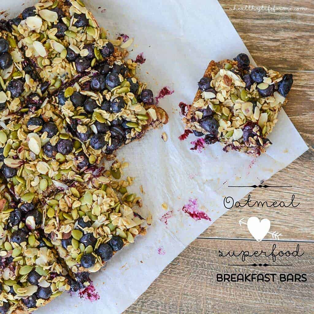 Oatmeal Superfood Breakfast Bars by A Healthy Life for Me