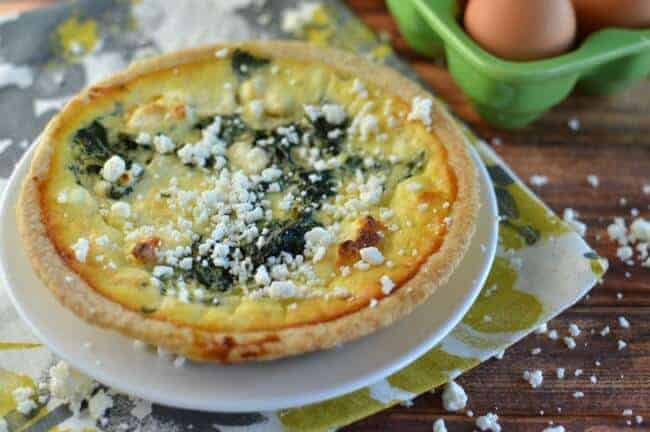 Spinach and Feta Quiche Princess Pinky Girl
