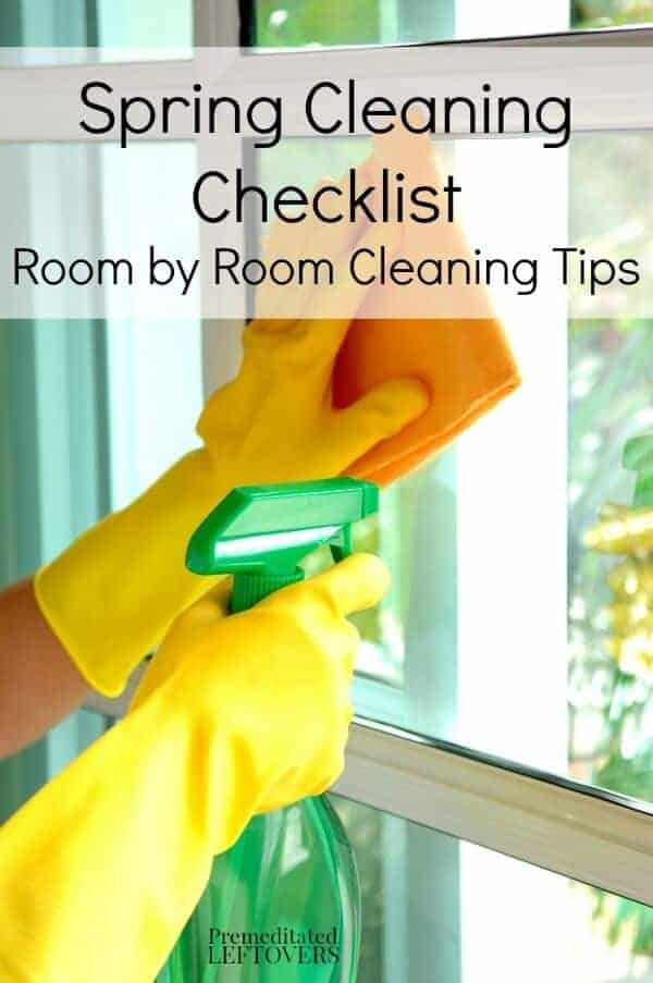 Spring Cleaning Checklist by Premeditated Leftovers