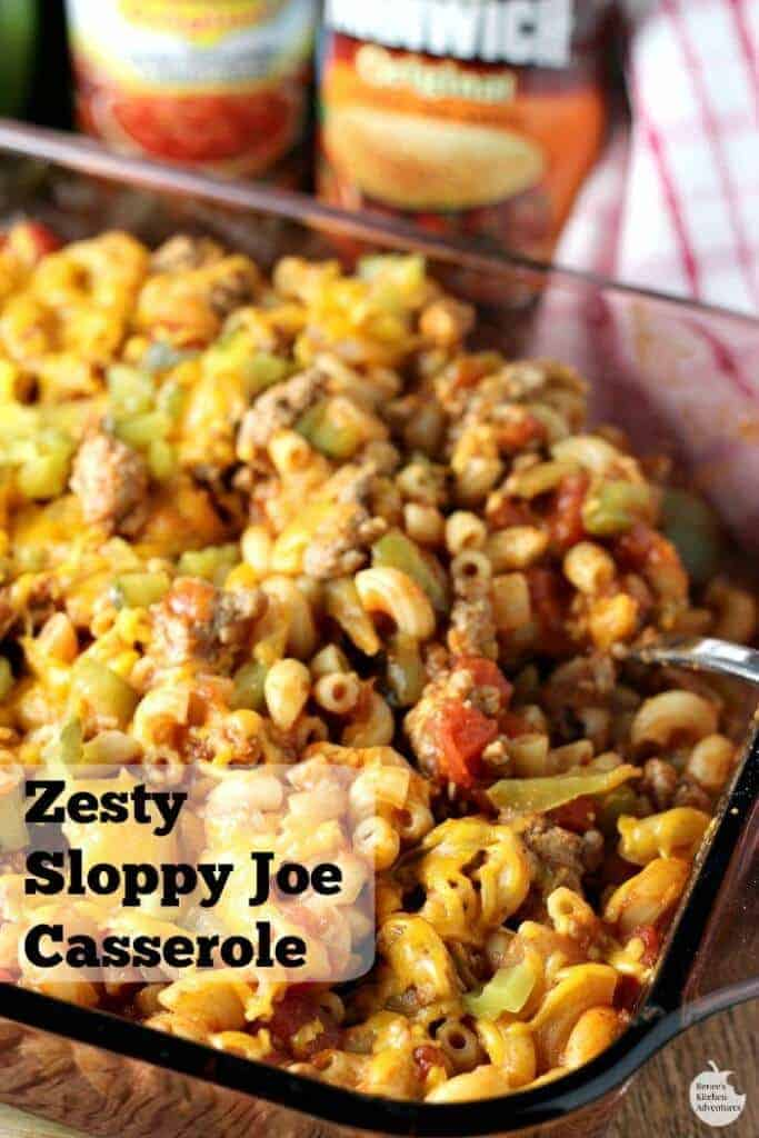 Zesty Sloppy Joe Casserole by Renees Kitchen Adventures