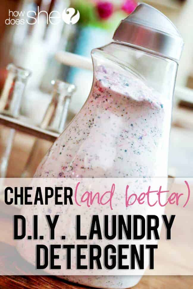 DIY Laundry Detergent from How Does She