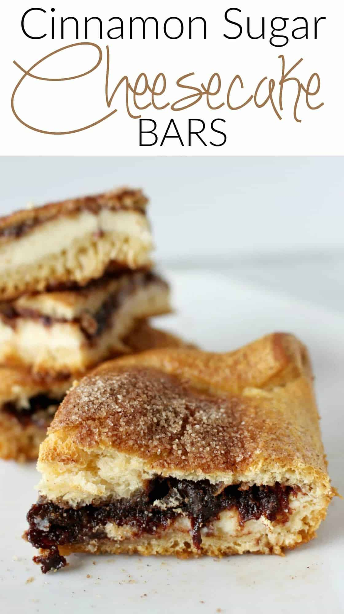 Cinnamon Sugar Crescent Cheesecake Bars - looking for an easy dessert that everyone will love? Look no further!