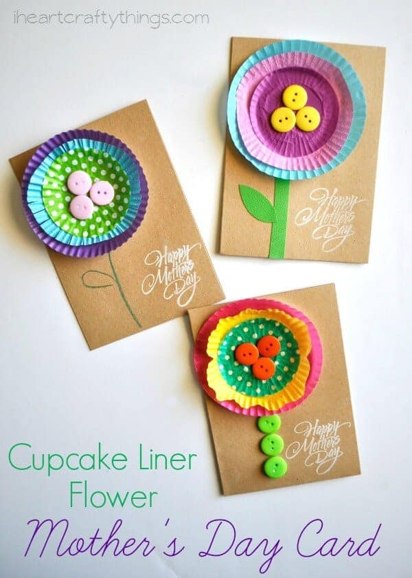 Cupcake liner card for mother's day