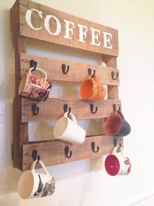 DIY Coffee Mug Holder from One Little Bird Blog