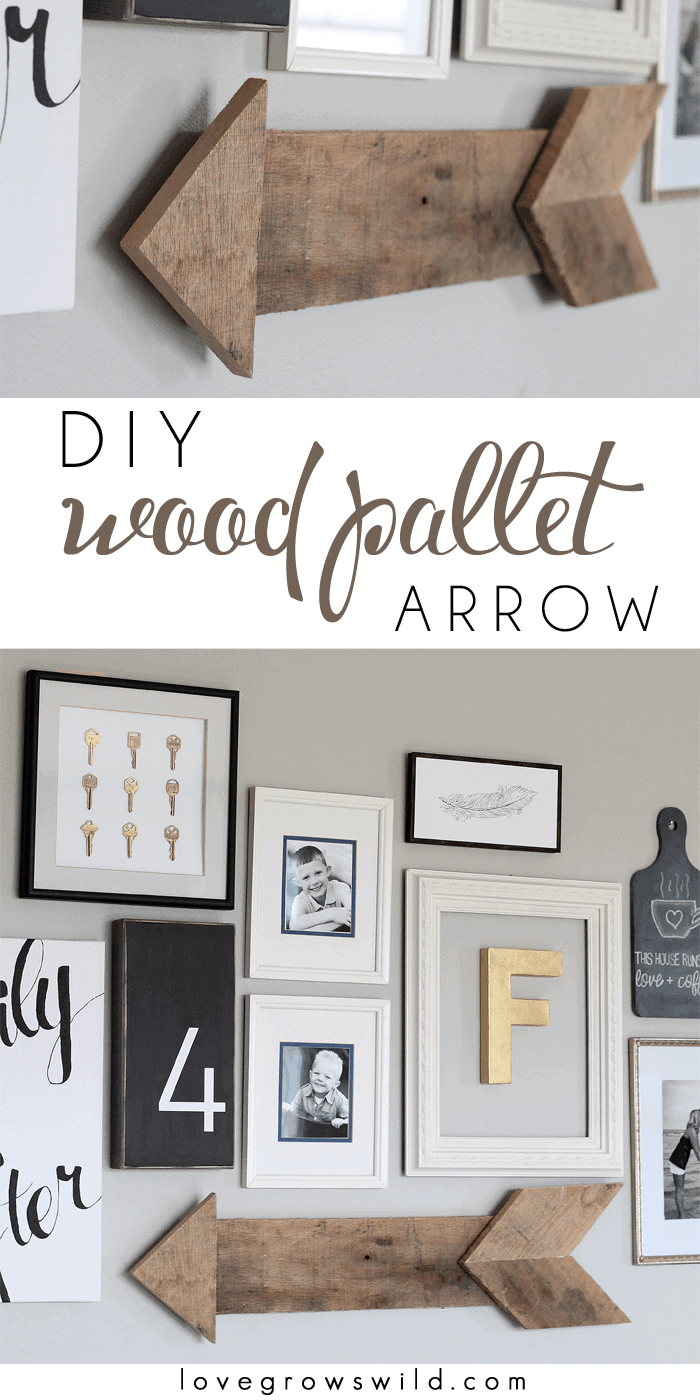 DIY Wood Pallet Arrow by Love Grows Wild