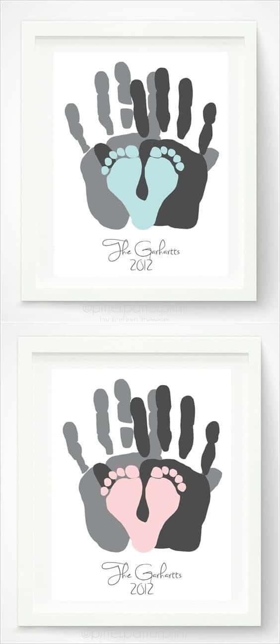 Cute handprint and footprint crafts princess pinky girl - Its a boy here are some room ideas for a newborn ...