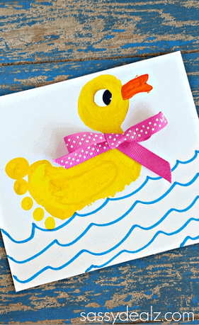 Footprint Duck Craft via Crafty Morning