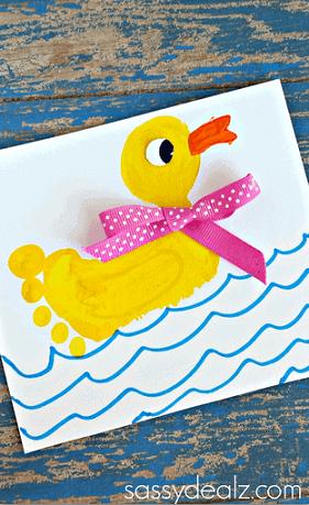 Footprint Duck Craft via Crafty Morning