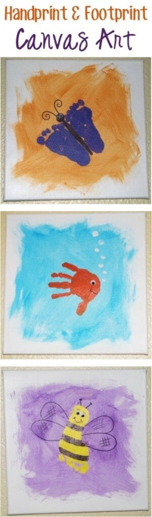 Handprint Canvas Art by The Frugal Girls