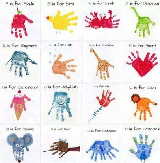 Handprint Alphabet by The Whoot