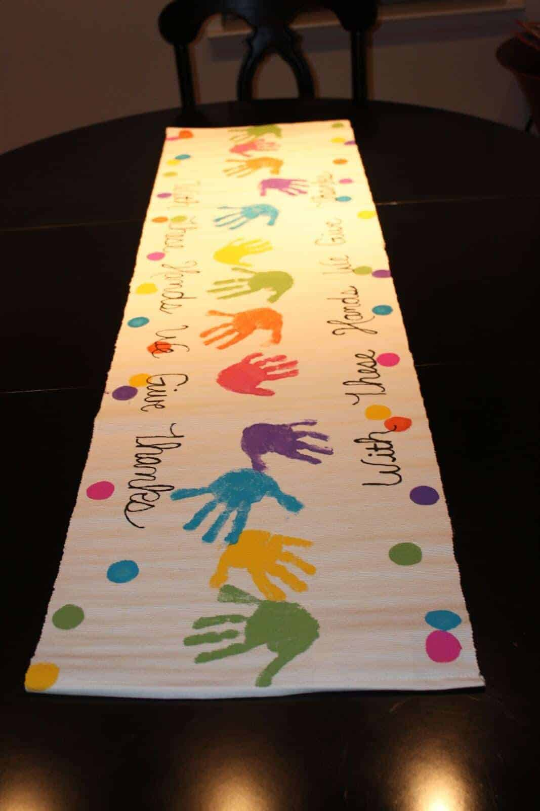 Handprint Table Runner by Not an Ordinary Family