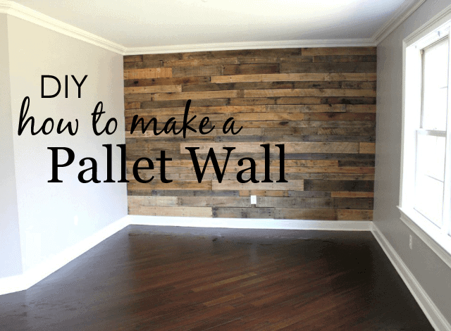 How to Make a Pallet Wall by Project Nursery