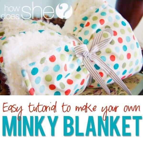 DIY Minky Blanket by How Does She