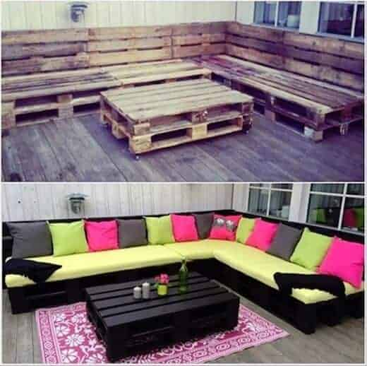 Pallet Sofa from Wonderful DIY