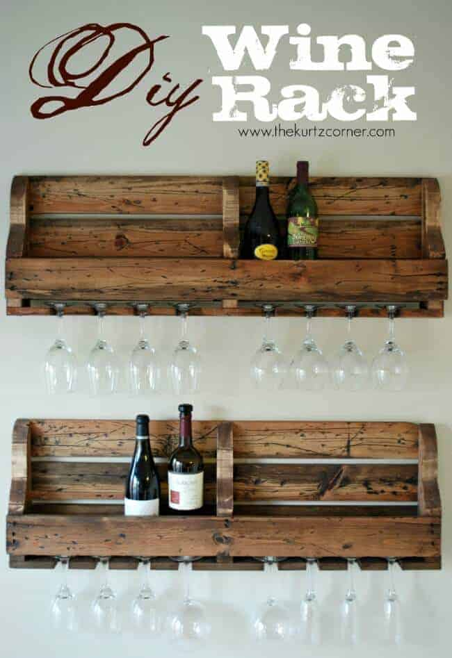 DIY Pallet Wine Rack by the Kurtz Corner