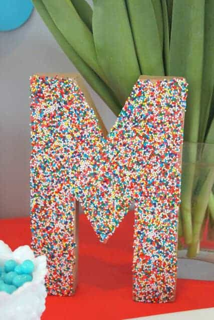 Sprinkles Initial by Mirabelle Creations