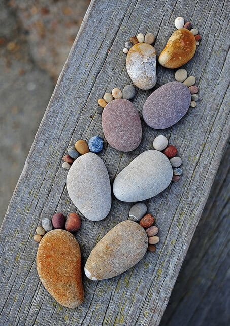 Stone Footprints via Beautiful Life