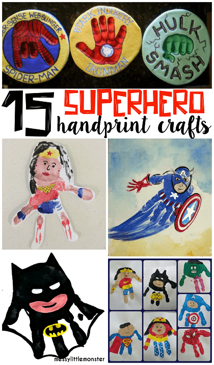 Superhero Handprint Crafts for Kids by Crafty Morning