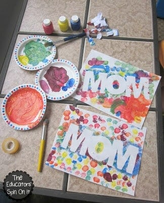 Tape Resist Mother's Day Art by The Educator's Spin On It