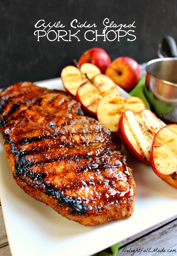 Apple Cider Glazed Porkchops by Delightful E Made