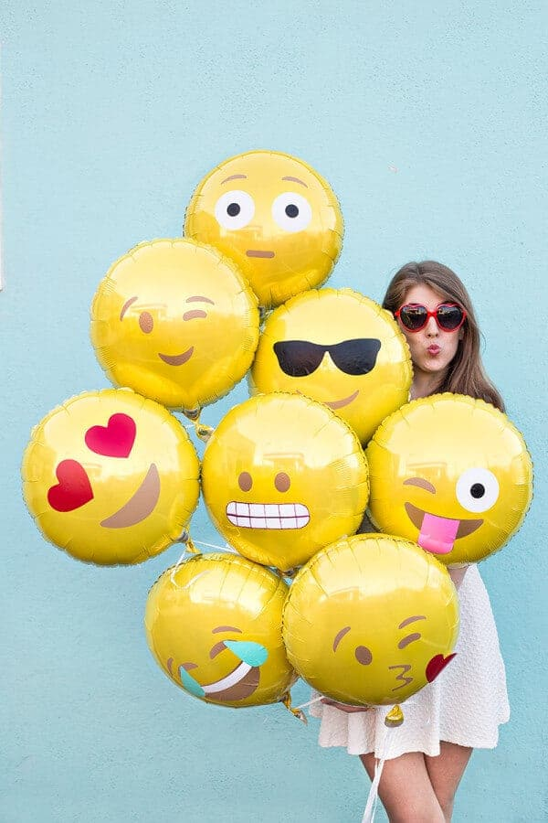 DIY Emoji Balloons by Studio DIY