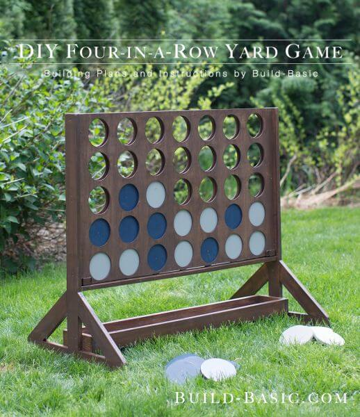 Row House Backyard Ideas : DIY Four in a Row Yard Game by The Home Depot Blog