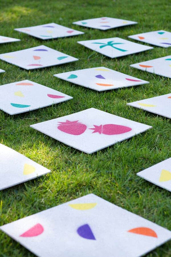DIY Giant Lawn Matching Game by Studio DIY