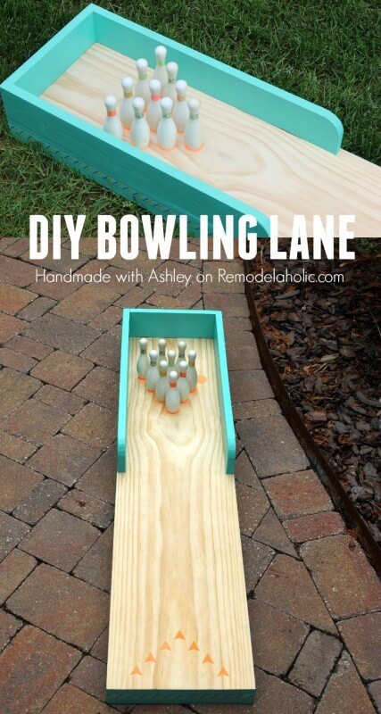 DIY Outdoor Bowling Lane by Remodelaholic