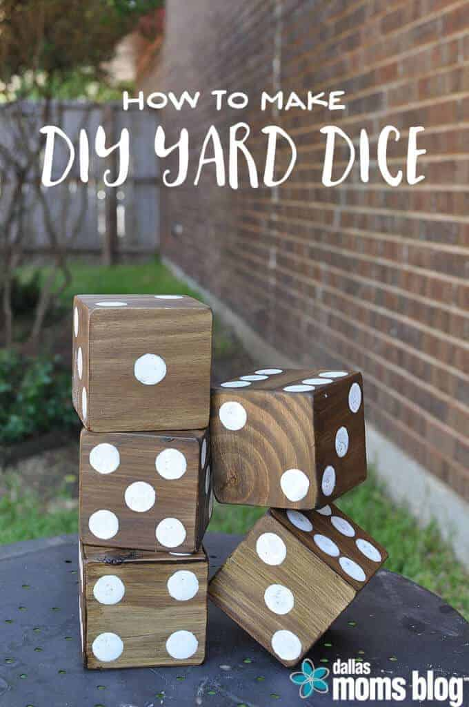 DIY Yard Dice by Dallas Moms Blog