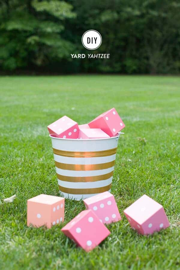 DIY Yard Yahtzee by Style Me Pretty