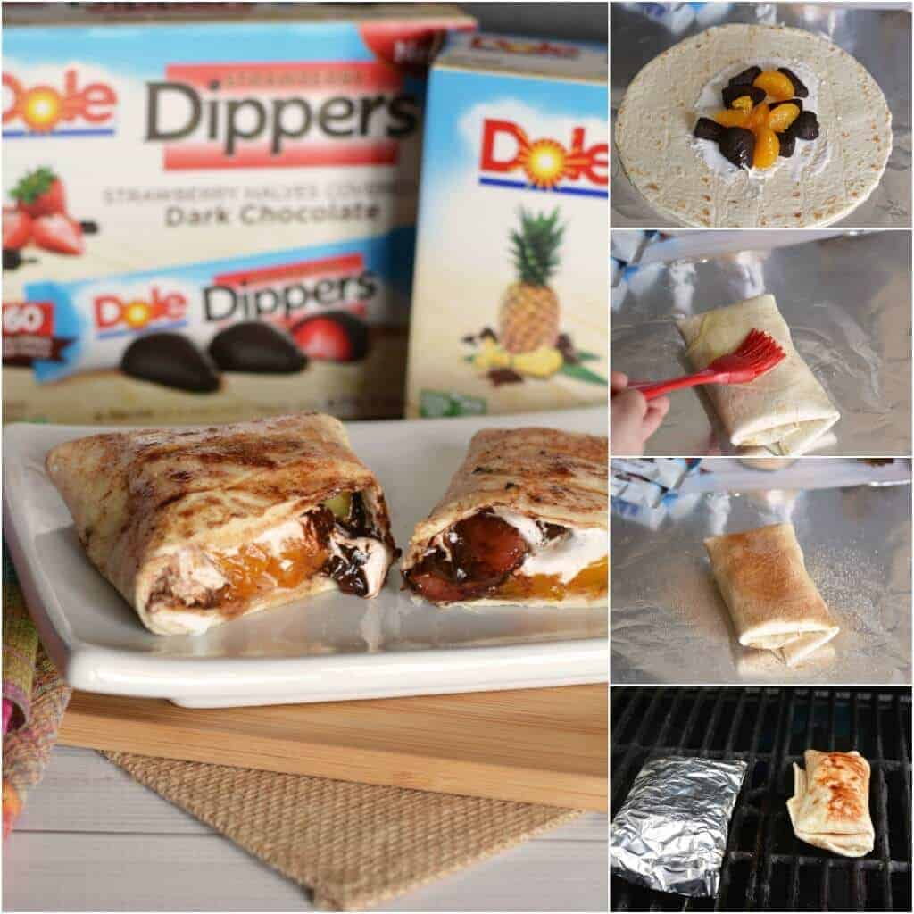 Dole Tropical Fruit Chocolate Dessert Burritos - a delicious summer dessert!